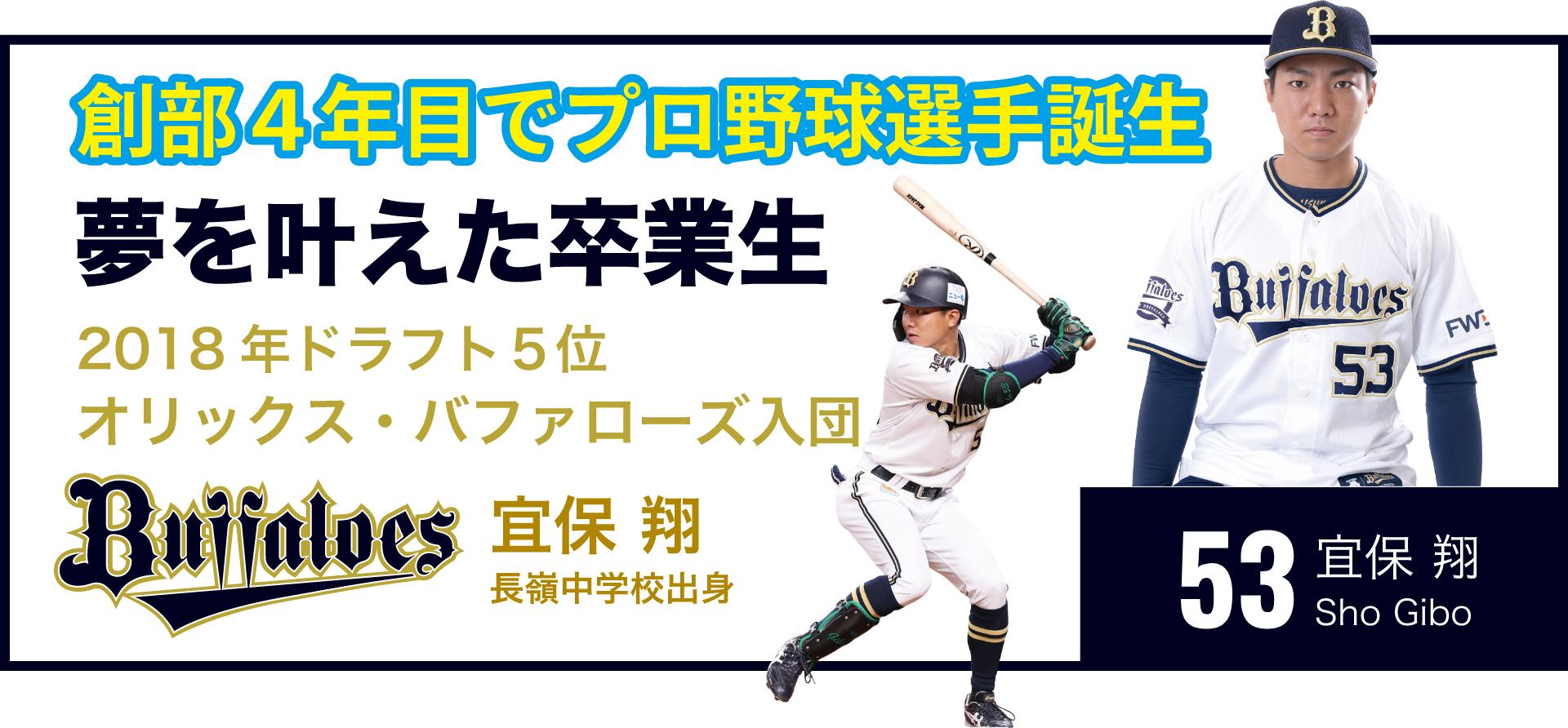 創部4年目でプロ野球選手誕生